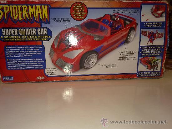 Figuras y Muñecos Marvel: SUPER SPIDERCAR.COCHE GIGANTE CON SU CAJA ORIGINAL de 42 CM. - Foto 2 - 27842289