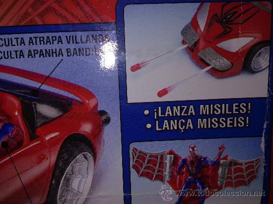 Figuras y Muñecos Marvel: SUPER SPIDERCAR.COCHE GIGANTE CON SU CAJA ORIGINAL de 42 CM. - Foto 3 - 27842289