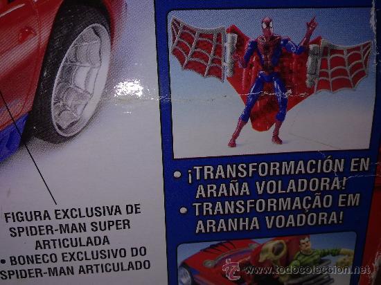 Figuras y Muñecos Marvel: SUPER SPIDERCAR.COCHE GIGANTE CON SU CAJA ORIGINAL de 42 CM. - Foto 4 - 27842289