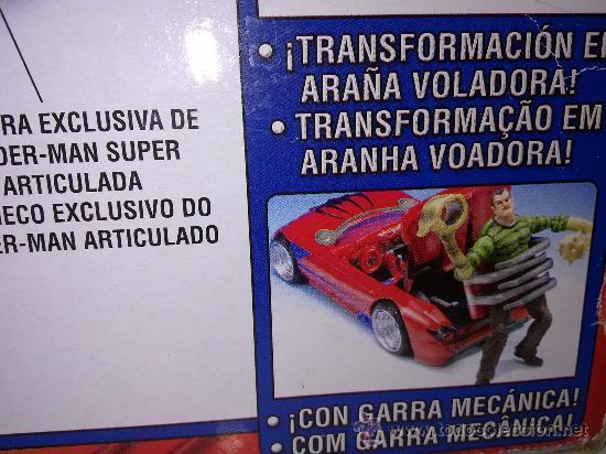 Figuras y Muñecos Marvel: SUPER SPIDERCAR.COCHE GIGANTE CON SU CAJA ORIGINAL de 42 CM. - Foto 5 - 27842289