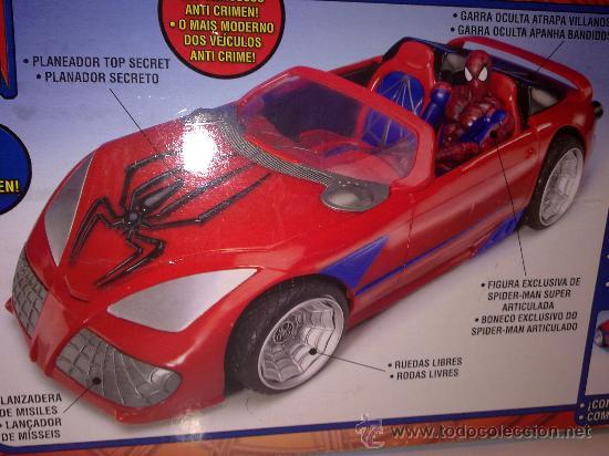 Figuras y Muñecos Marvel: SUPER SPIDERCAR.COCHE GIGANTE CON SU CAJA ORIGINAL de 42 CM. - Foto 6 - 27842289