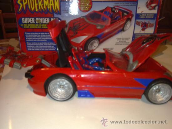 Figuras y Muñecos Marvel: SUPER SPIDERCAR.COCHE GIGANTE CON SU CAJA ORIGINAL de 42 CM. - Foto 16 - 27842289