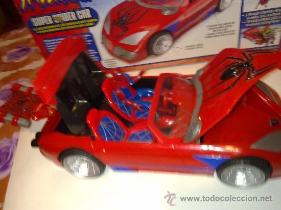Figuras y Muñecos Marvel: SUPER SPIDERCAR.COCHE GIGANTE CON SU CAJA ORIGINAL de 42 CM. - Foto 17 - 27842289