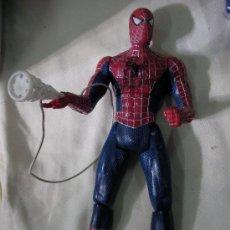 Figuras y Muñecos Marvel: FIGURA SPIDERMAN TAMAÑO MEDIO CON LANZADOR TELA ARAÑA. Lote 32025603