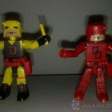 Figuras y Muñecos Marvel: MINIMATES SERIES 1 Y 2 (MARVEL DAREDEVIL) DISFRACES ROJO Y AMARILLO. Lote 33742931