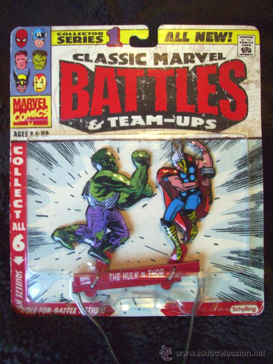MARVEL CLASSIC BATTLES. THOR Y HULK. EXCLUSIVO!! HOJALATA. MARVEL LEGENDS. IRON MAN - SPIDERMAN (Juguetes - Figuras de Acción - Marvel)