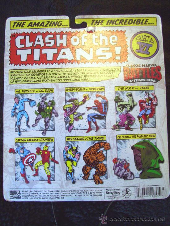 Figuras y Muñecos Marvel: MARVEL CLASSIC BATTLES. THOR Y HULK. EXCLUSIVO!! HOJALATA. MARVEL LEGENDS. IRON MAN - SPIDERMAN - Foto 2 - 36021202