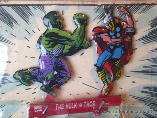 Figuras y Muñecos Marvel: MARVEL CLASSIC BATTLES. THOR Y HULK. EXCLUSIVO!! HOJALATA. MARVEL LEGENDS. IRON MAN - SPIDERMAN - Foto 3 - 36021202