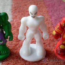 Figuras y Muñecos Marvel: LOTE 3 MINI FIGURAS MARVEL 2008 TM, 4 CM KINDER SUPERHERO. Lote 38528900