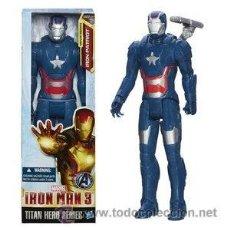 Figuras y Muñecos Marvel: IRON MAN PATRIOT MARVEL AVENGERS SERIE TITAN HASBRO 12´(30 CMS). Lote 39570475