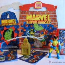 Figuras y Muñecos Marvel: MARVEL SUPER HEROES WOLVERINE & SPIDERMAN BURGER KING 1999. Lote 40514882
