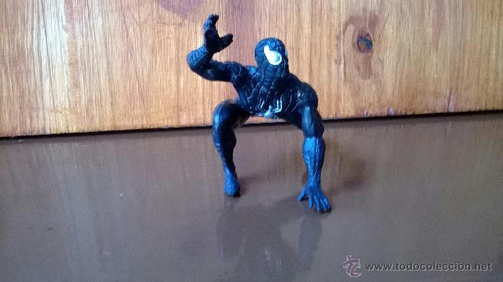 FIGURA DE GOMA SPIDERMAN NEGRO MARVEL YOLANDA 1996 (Juguetes - Figuras de Acción - Marvel)