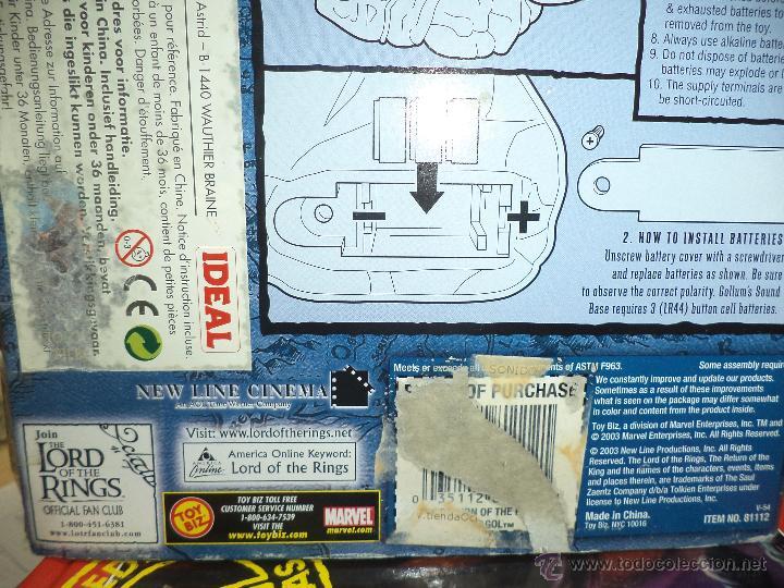 Figuras y Muñecos Marvel: Golum - El Señor de los anillos Marvel 2003-Toy Biz - Foto 4 - 156966006