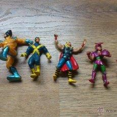 Figuras y Muñecos Marvel: LOTE DE 6 FIGURAS ANTIGUAS MUÑECOS DE GOMA MARVEL THOR SPIDER MAN LOBEZNO POPEYE . Lote 46514549