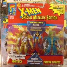 Figuras y Muñecos Marvel: X-MEN-MAVERICK-TREVOR FITZROY + LOBEZNO METALICO-MARVEL-TOY BIZ-EDICION COLECCIONISTA-SIN ABRIR. Lote 213861970