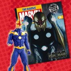 Figuras y Muñecos Marvel: FIGURA PLOMO EAGLEMOSS 54 - MARVEL - NOVA - CON REVISTA - CON CAJA. Lote 48155228