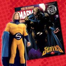 Figuras y Muñecos Marvel: FIGURA PLOMO EAGLEMOSS 77 - MARVEL - THE SENTRY - EL VIGÍA - CON REVISTA - CON CAJA. Lote 48155439
