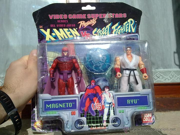 DIFICILISIMO BLISTER MAGNETO VS RYU MARVEL STREET FIGHTER NINTENDO VS X MEN (Juguetes - Figuras de Acción - Marvel)