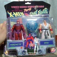 Figuras y Muñecos Marvel: DIFICILISIMO BLISTER MAGNETO VS RYU MARVEL STREET FIGHTER NINTENDO VS X MEN. Lote 48486368
