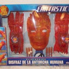 Figuras y Muñecos Marvel: DISFRAZ DE LA ANTORCHA HUMANA,ELECTRÓNICO,FANTASTIC 4,MARVEL,FAMOSA,CAJA ORIGINAL,2005,A ESTRENAR. Lote 127625186