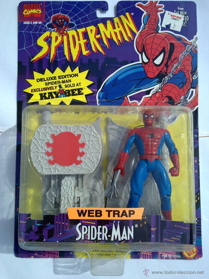 SPIDERMAN ANIMATED SPIDERMAN TREPADOR PRO FIGURA EN SU BLISTER NUEVA NUNCA ABIERTA TOY BIZ MARVEL (Juguetes - Figuras de Acción - Marvel)
