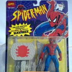Figuras y Muñecos Marvel: SPIDERMAN ANIMATED SPIDERMAN TREPADOR PRO FIGURA EN SU BLISTER NUEVA NUNCA ABIERTA TOY BIZ MARVEL. Lote 97960003