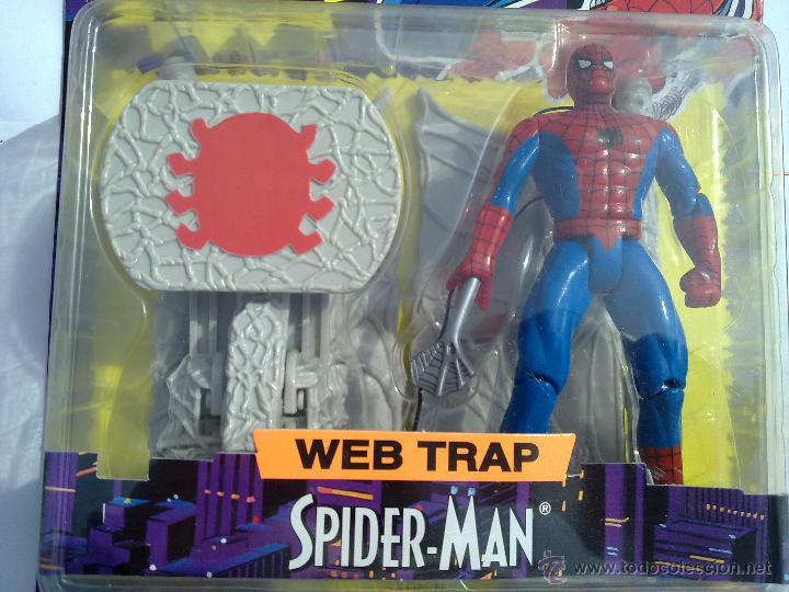Figuras y Muñecos Marvel: SPIDERMAN ANIMATED SPIDERMAN TREPADOR PRO FIGURA EN SU BLISTER NUEVA NUNCA ABIERTA TOY BIZ MARVEL - Foto 2 - 97960003