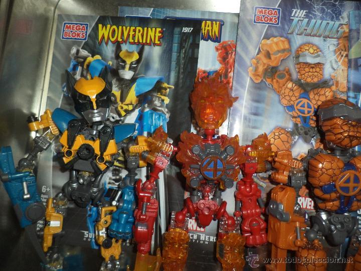Figuras y Muñecos Marvel: Marvel Mega Bloks .Caja de hojalata con Iron Man,Spiderman,Wolverine y la Cosa.Ref.1981.2005. - Foto 3 - 49963025