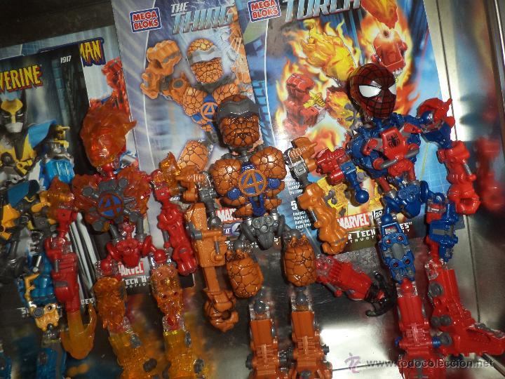 Figuras y Muñecos Marvel: Marvel Mega Bloks .Caja de hojalata con Iron Man,Spiderman,Wolverine y la Cosa.Ref.1981.2005. - Foto 4 - 49963025