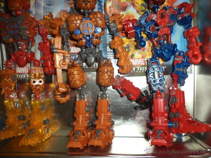 Figuras y Muñecos Marvel: Marvel Mega Bloks .Caja de hojalata con Iron Man,Spiderman,Wolverine y la Cosa.Ref.1981.2005. - Foto 5 - 49963025