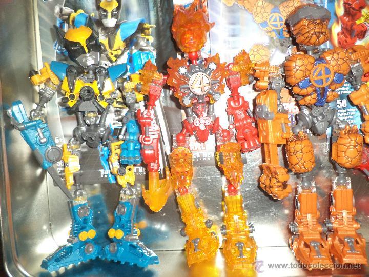 Figuras y Muñecos Marvel: Marvel Mega Bloks .Caja de hojalata con Iron Man,Spiderman,Wolverine y la Cosa.Ref.1981.2005. - Foto 6 - 49963025