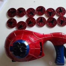 Figuras y Muñecos Marvel: SPIDERMAN TIRAR DISCOS, CON 12 DISCOS. Lote 49983757