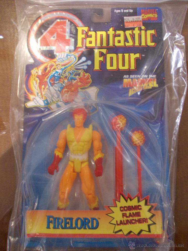 4 FANTASTICOS-FIRE LORD-TOY BIZ-AÑO 1995-PERFECTO BLISTER SIN ABRIR- (Juguetes - Figuras de Acción - Marvel)