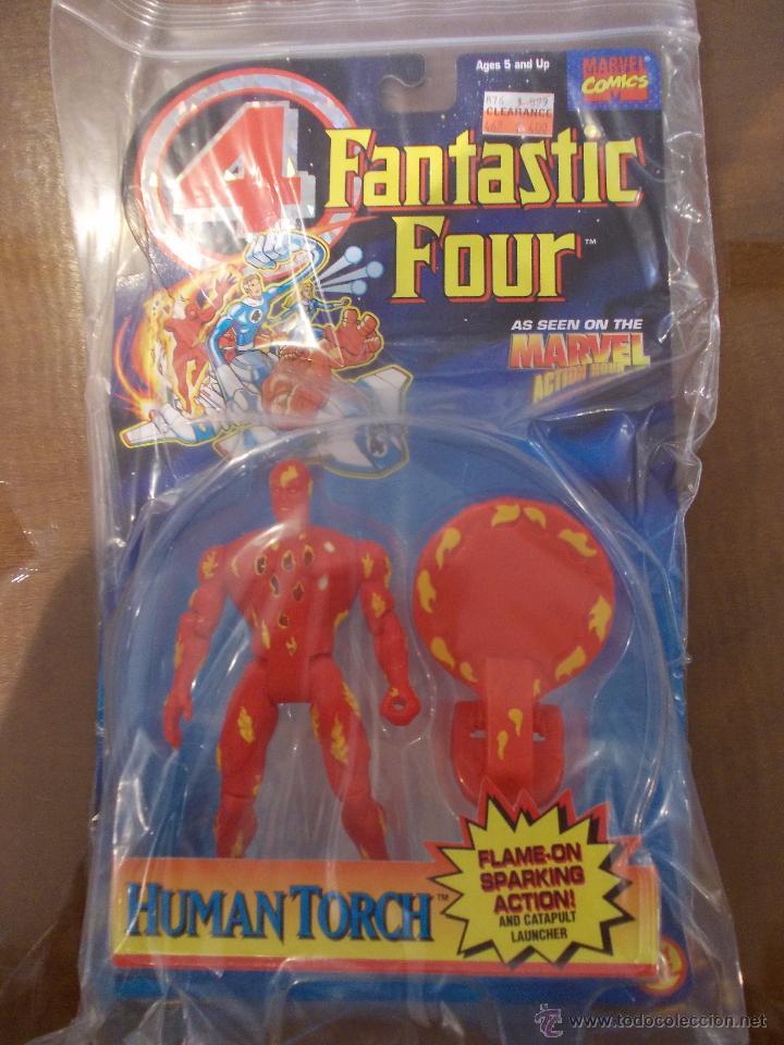 4 FANTASTICOS-ANTORCHA HUMANA-TOY BIZ-AÑO 1995-PERFECTO BLISTER SIN ABRIR- (Juguetes - Figuras de Acción - Marvel)