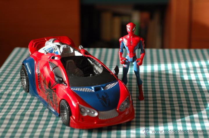 Figuras y Muñecos Marvel: COCHE DE SPIDERMAN, MARVEL CON FIGURA THE ANIMATED SERIES - Foto 3 - 51323026