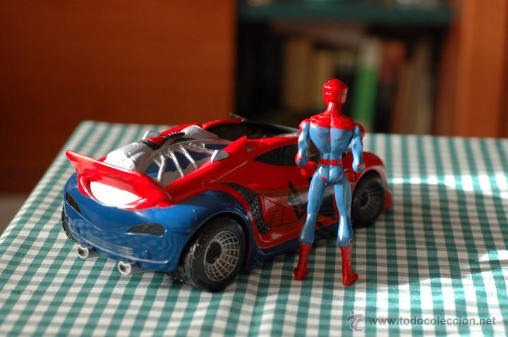 Figuras y Muñecos Marvel: COCHE DE SPIDERMAN, MARVEL CON FIGURA THE ANIMATED SERIES - Foto 4 - 51323026