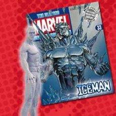 Figuras y Muñecos Marvel: FIGURA PLOMO EAGLEMOSS 33 - MARVEL - ICEMAN - HOMBRE DE HIELO - CON REVISTA - SIN CAJA. Lote 51881531