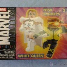 Figuras y Muñecos Marvel: MARVEL MINIMATES WHITE QUEEN NEW CYCLOPS. Lote 52457988