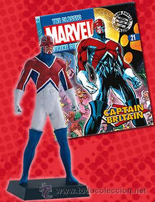 FIGURA PLOMO EAGLEMOSS 21 - MARVEL - CAPTAIN BRITAIN - CAPITAN BRITANIA - REVISTA ESPAÑOL - SIN CAJA (Juguetes - Figuras de Acción - Marvel)