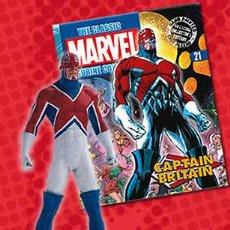 Figuras y Muñecos Marvel: FIGURA PLOMO EAGLEMOSS 21 - MARVEL - CAPTAIN BRITAIN - CAPITAN BRITANIA - REVISTA ESPAÑOL - SIN CAJA. Lote 52810345