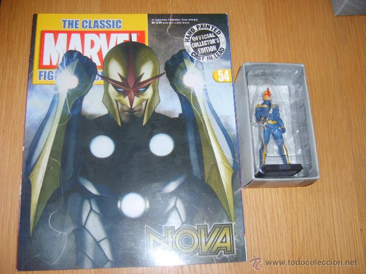 FIGURA PLOMO EAGLEMOSS - MARVEL - NOVA - CON REVISTA - CON CAJA (Juguetes - Figuras de Acción - Marvel)