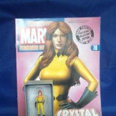 Figuras y Muñecos Marvel: FIGURA PLOMO EAGLEMOSS 78 - MARVEL - CRYSTAL - CRISTAL - CON REVISTA Y CAJA. Lote 48154893