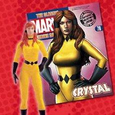 Figuras y Muñecos Marvel: FIGURA PLOMO EAGLEMOSS 78 - MARVEL - CRYSTAL - CRISTAL - CON REVISTA EN ESPAÑOL - SIN CAJA. Lote 51882285