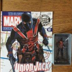 Figuras y Muñecos Marvel: FIGURA PLOMO EAGLEMOSS 107 - MARVEL - UNION JACK - CON REVISTA Y CAJA. Lote 52135271