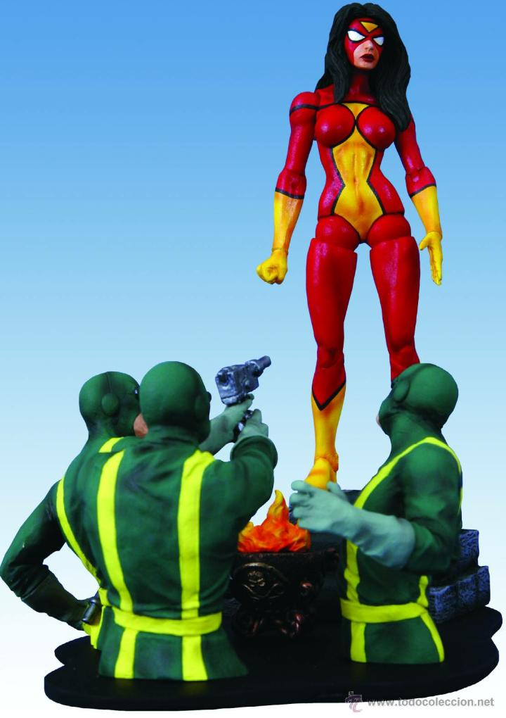 IMPRESIONANTE DIORAMA DE SPIDER-WOMAN (Juguetes - Figuras de Acción - Marvel)