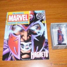 Figuras y Muñecos Marvel: FIGURA PLOMO EAGLEMOSS 5 - MARVEL - MAGNETO - CON REVISTA Y CAJA. Lote 130058040