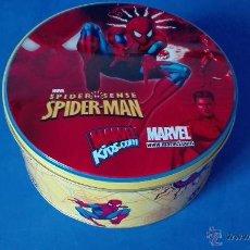 Figuras y Muñecos Marvel: SPIDER-MAN. (CAJA REDONDA METALICA NUEVA).MARVEL.. Lote 53764220