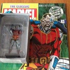 Figuras y Muñecos Marvel: FIGURA PLOMO EAGLEMOSS 83 - MARVEL - DEATHLOK - COMPLETA CON REVISTA Y CAJA. Lote 48154964