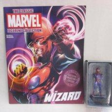 Figuras y Muñecos Marvel: FIGURA PLOMO EAGLEMOSS 170 - MARVEL - WIZARD - MAGO - COMPLETA CON REVISTA Y CAJA ORIGINAL. Lote 53156911