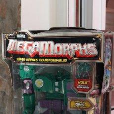 Figuras y Muñecos Marvel: MARVEL 2005 MEGAMORPHS HULK, EN SU CAJA ORIGINAL.SUPER HEROES TRANSFORMABLES. Lote 58344806